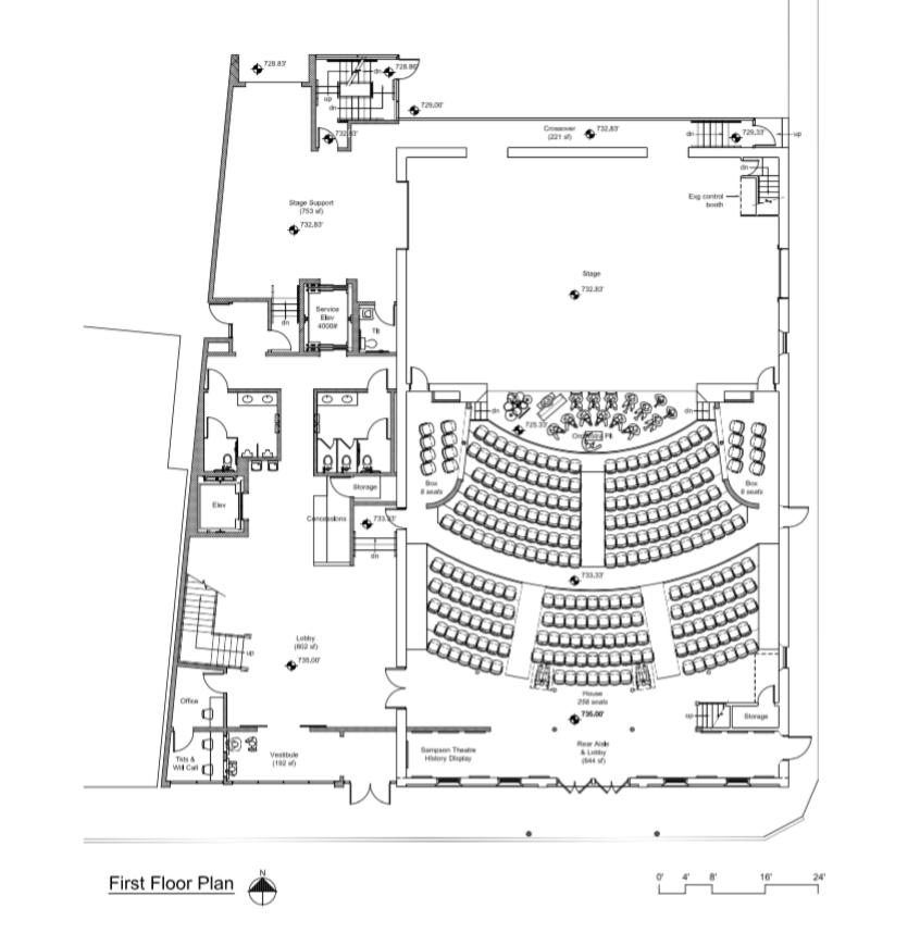 Sampson Theatre First Floor Plan