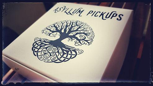 Boite, Asyllum Pickups, Présentation, Arbre de vie, Packaging, Soft touch,