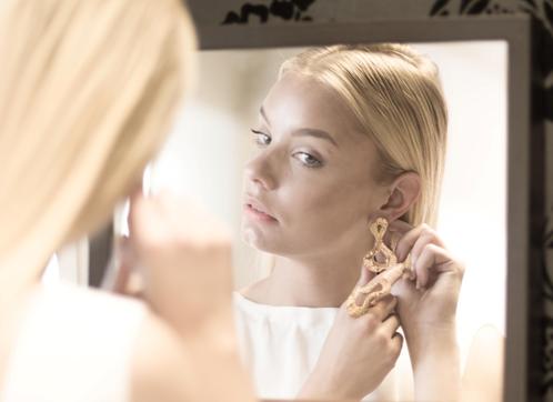 Marina Skia: Black Waves Earrings - Gold   Jewelry,Jewelry > Earrings -  Hiphunters Shop