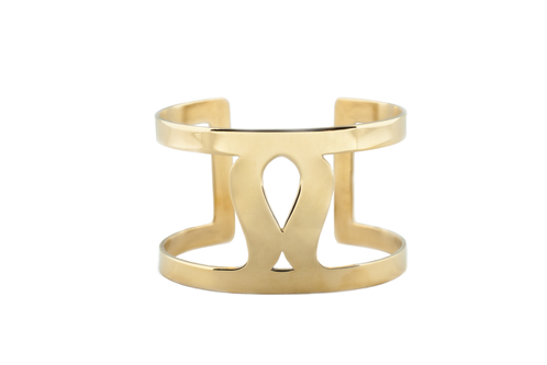 Art Deco Fluidity Cuff - Gold