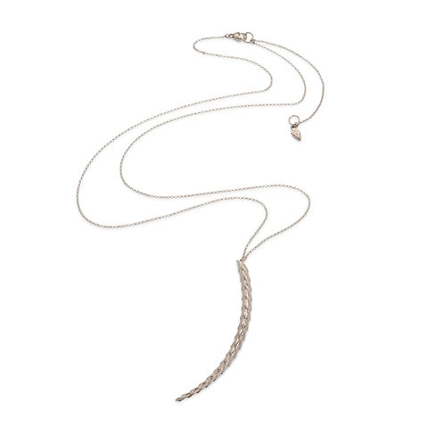 The Viper Necklace Long - Silver