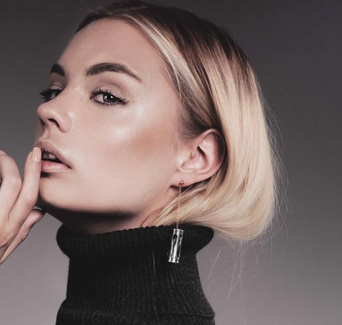 Marina Skia: Art Deco Fluidity Earring Long - Gold | Jewelry,Jewelry > Earrings -  Hiphunters Shop