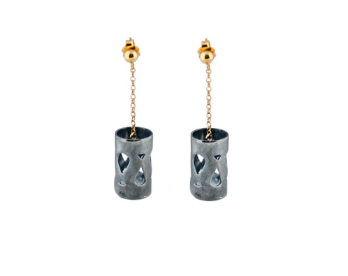 Marina Skia: Art Deco Fluidity Earrings Short - Gold | Jewelry,Jewelry > Earrings -  Hiphunters Shop