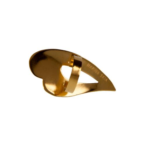 Marina Skia: Black Waves Heart Ring - Gold   Jewelry,Jewelry > Rings -  Hiphunters Shop