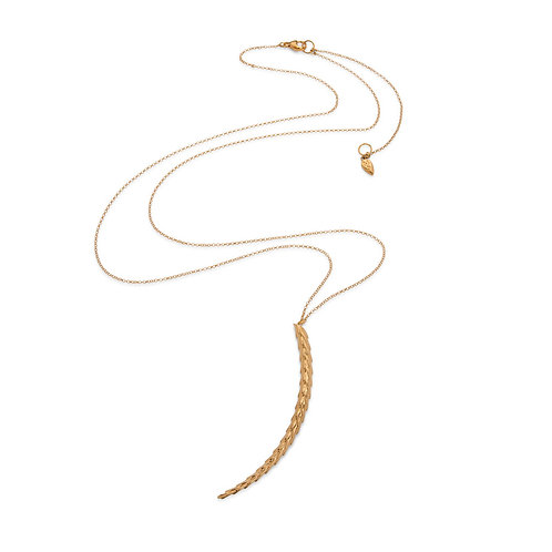 The Viper Necklace Long - Gold