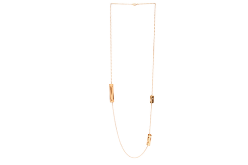 Marina Skia: Art Deco Fluidity Necklace Large Forms - Gold | Jewelry,Jewelry > Necklaces -  Hiphunters Shop