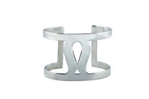 Art Deco Fluidity Cuff - Silver
