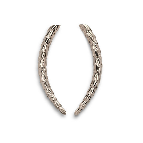 The Viper Earring Short - Silver