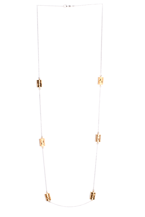 Marina Skia: Art Deco Fluidity Necklace Small Forms - Gold | Jewelry,Jewelry > Necklaces -  Hiphunters Shop