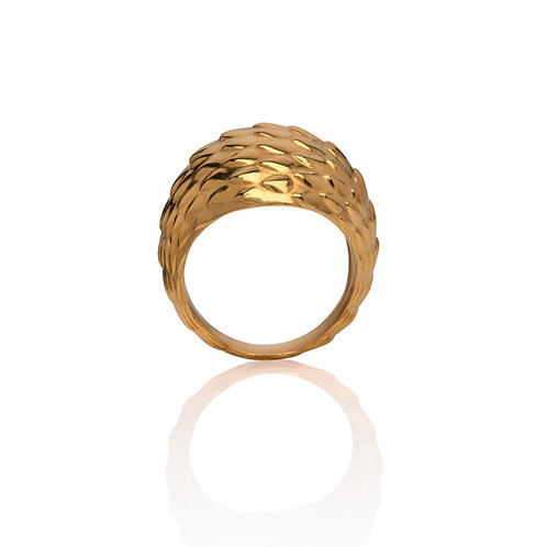 The Viper Bombe Ring - Gold