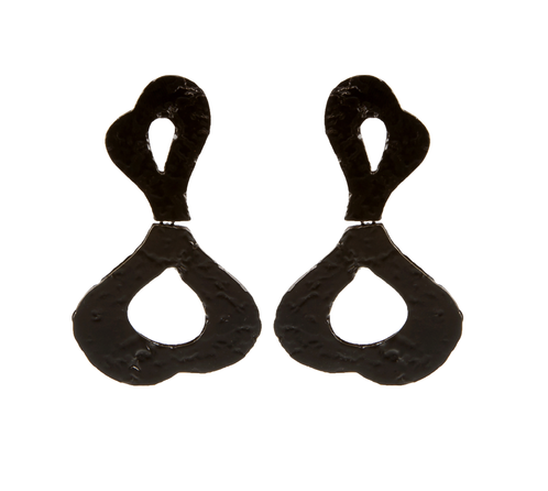 Black Waves Earrings - Black