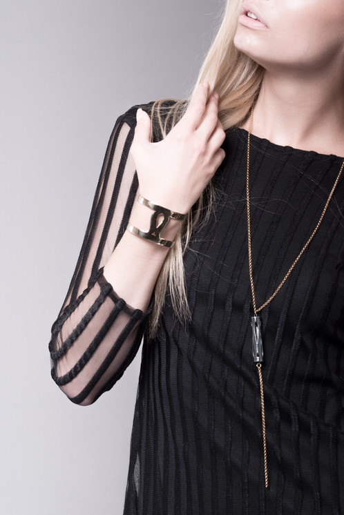 Marina Skia: Art Deco Fluidity Cuff - Gold   Jewelry,Jewelry > Bracelets -  Hiphunters Shop