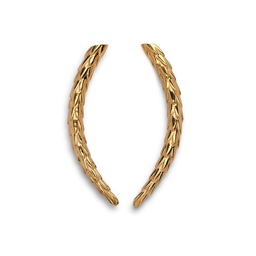 The Viper Earring Short - Gold