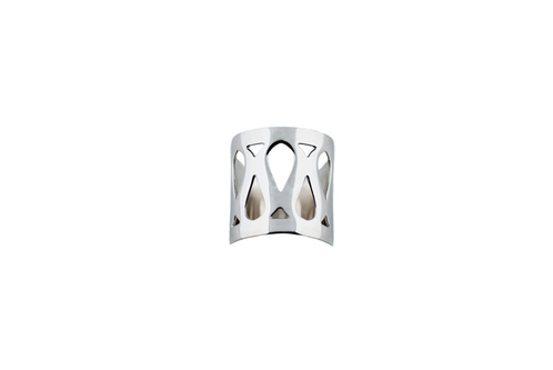Marina Skia: Art Deco Fluidity Ring Wide - Silver Oxidized | Jewelry,Jewelry > Rings -  Hiphunters Shop