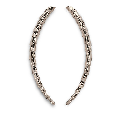The Viper Earring Long - Silver