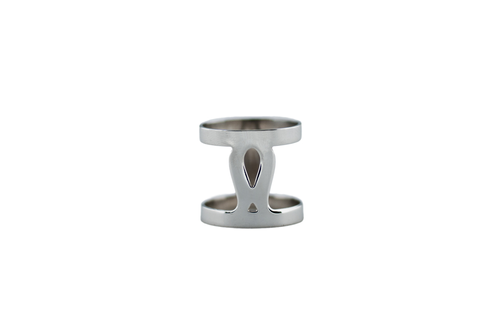 Art Deco Fluidity Ring Narrow - Silver
