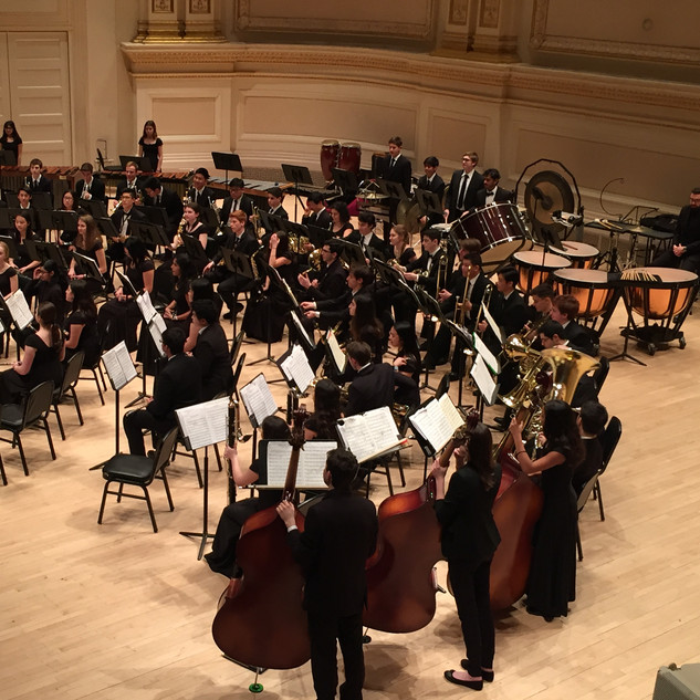 2018-19 Wind Ensemble at Carnegie Hall