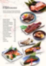 Fish menu at Hanakazu Japanese Restaurant