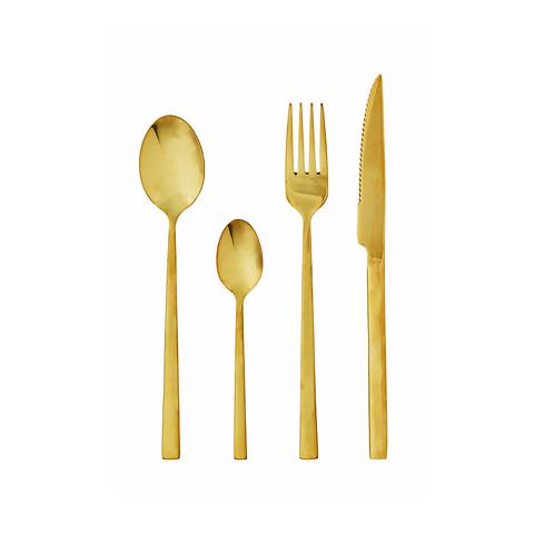 Besteck Gold (16-teilig)