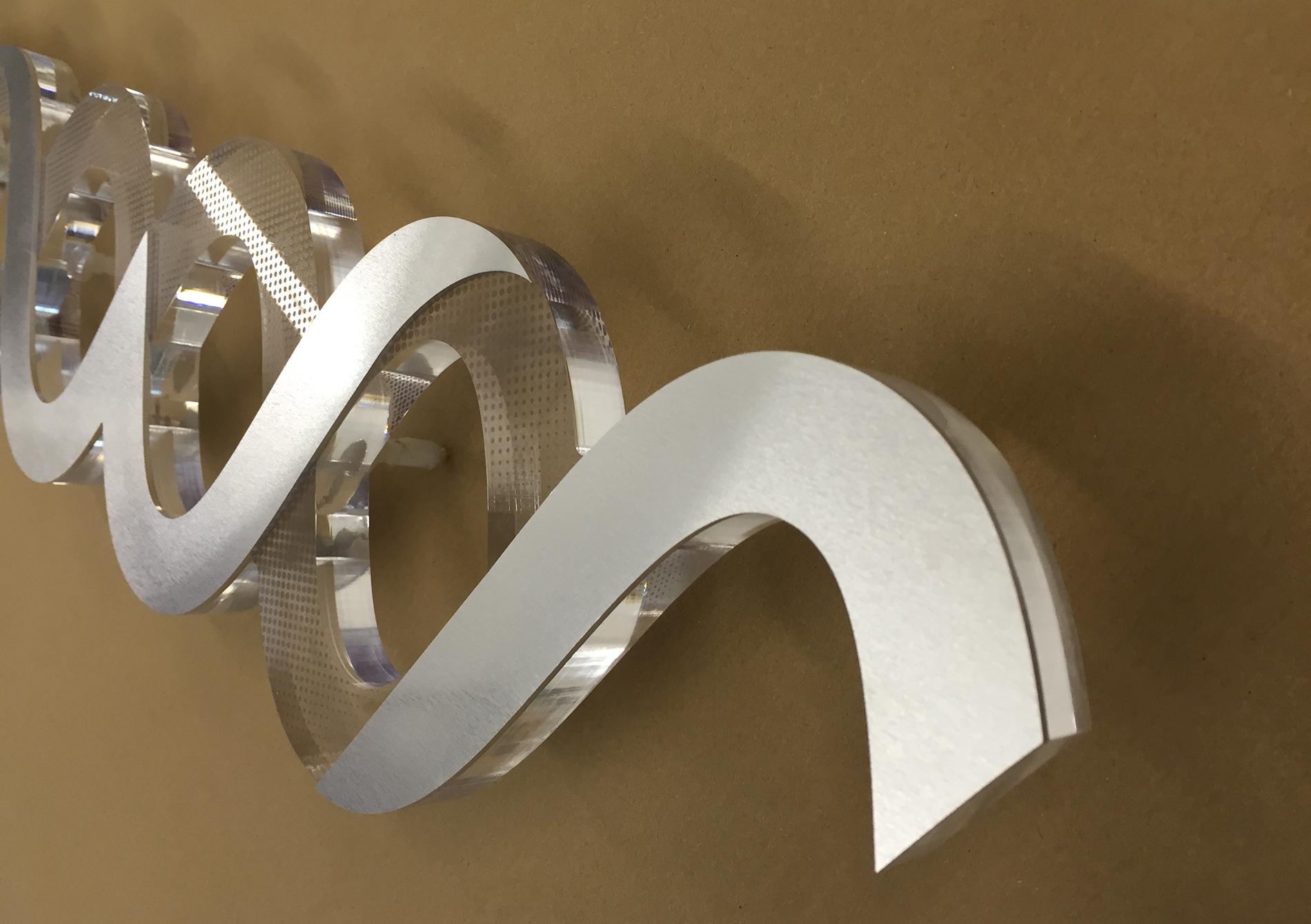 Acrylic aluminium signage