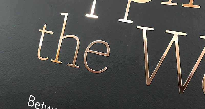 Cut Steel and Brass letters recessed in