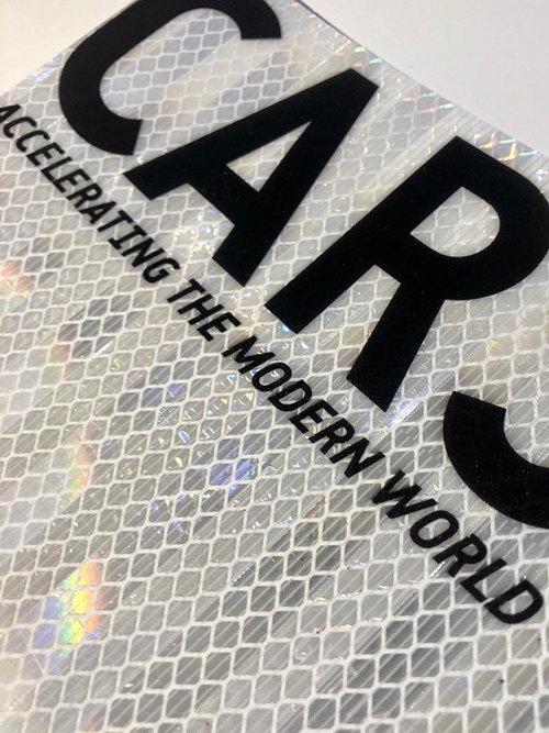 Print to holgraphic reflective vinyl