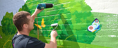 giant mural wallwrap application 2.JPG