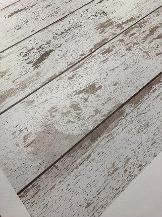 print to vinyl simulating floor decking