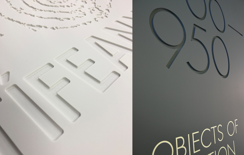 Engraved set walls