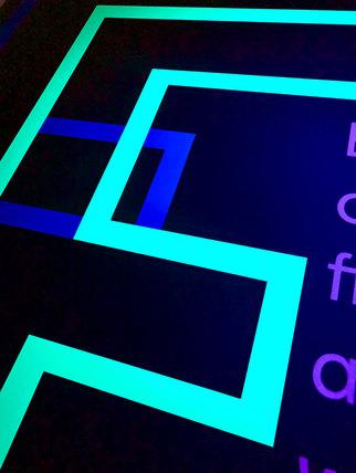 Stencil ink that will fluoresce or glow