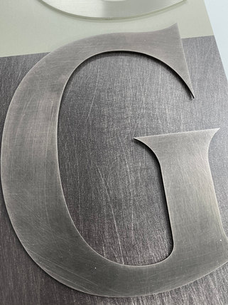 Print Matched to Cut Metal Letters