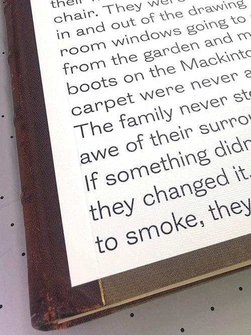 Print onto antique book