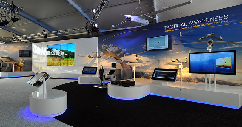 Exhibiton stands, mural prints, Boeing.j