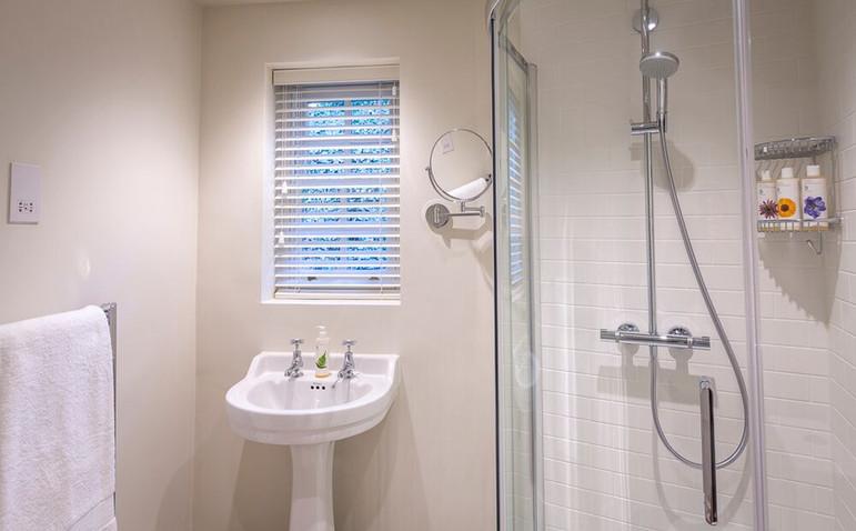 Garden Cottage ensuite shower room with walk-in shower