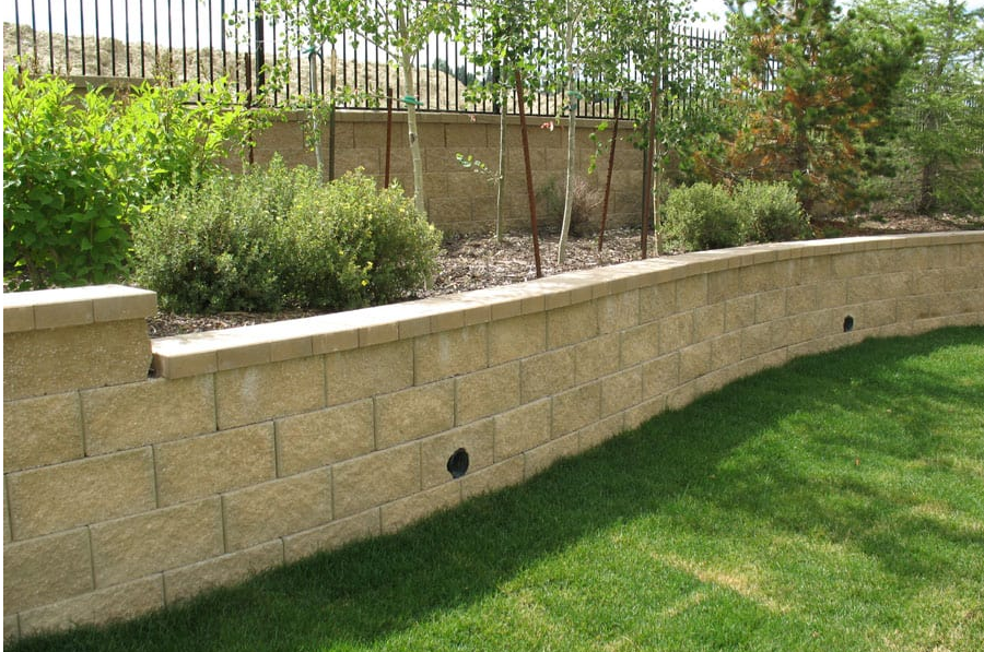 block wall with cap