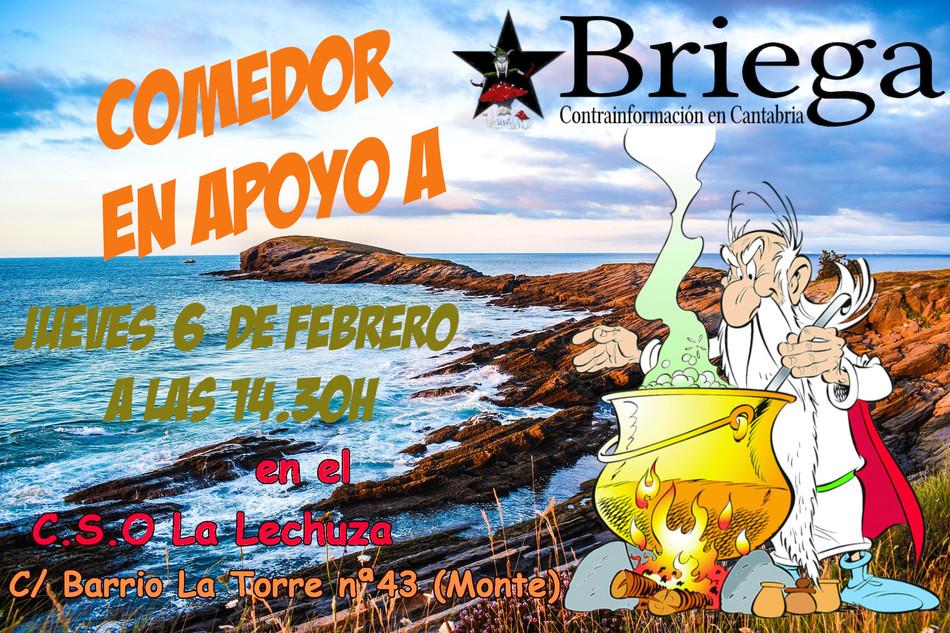 Comedor mensual apoyo a Briega - 6 Febrero-