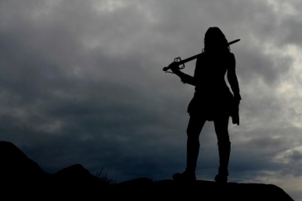 Warrior Woman Silhouette