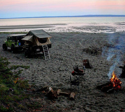 What east coast overlanding is all about #eastcoast #overland #lifestyle #camping #beach #sunset #ca