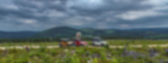 Jeeps in mountains New Brunswick