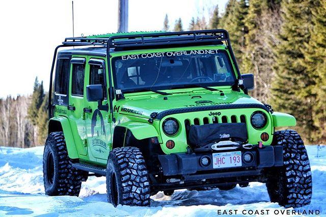 Snow wheeling in New Brunswick at -16C with _explorethenorth #cold #weather #adventure #jeep #wheeli