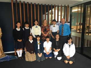 International student's morning tea with St Catherine's College new principal Steve Bryan and teache