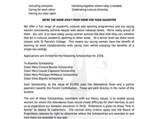 St Catherine's College Mercy Scholarship Programme 2018