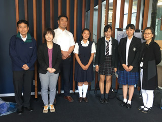 Visitors from The Osaka and Sakai Tourism Council visited St Catherine's College Japanese studen