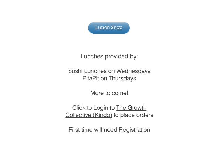 Students tab, lunches to register