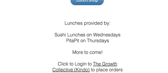Tuckshop and Kindo/EZ lunchesOur Kindo/EZ lunch goes live this week with lunches available to order