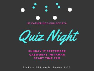 Get your team together now! SCC PTA Quiz Night - 17th September Gasworks Miramar 7pm.