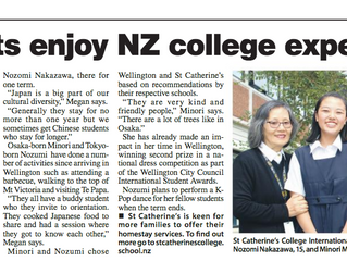 Cook Strait News - Students enjoy NZ college experience