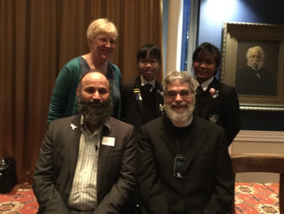 Cullen Breakfast with Mr Nawaz and Brother Guy Consolmagno SJ