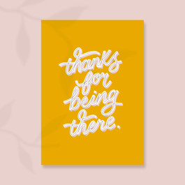 Thanks for being there card