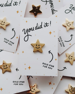 You did it, gold star for you! Pin Badge